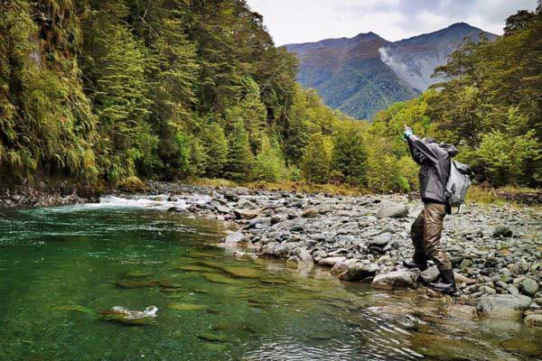 Guided Remote Fiordland Trout Fishing